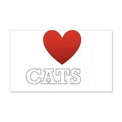 I Love Cats 22x14 Wall Peel