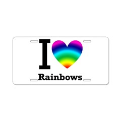 I <3 Rainbows Aluminum License Plate
