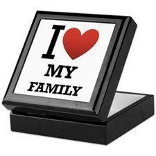 I <3 My Family Keepsake Box