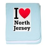 I <3 North Jersey baby blanket