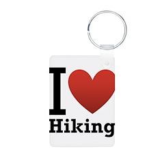 I Love Hiking Keychains