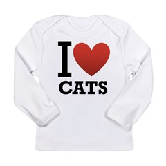 I Love Cats Long Sleeve Infant T-Shirt