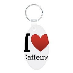 I Love Caffeine Keychains