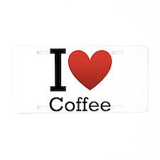 I <3 Coffee Aluminum License Plate