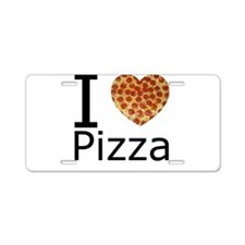 I Heart Pizza Aluminum License Plate