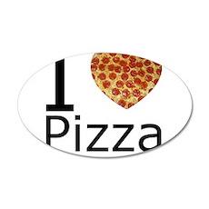 I Heart Pizza 22x14 Oval Wall Peel
