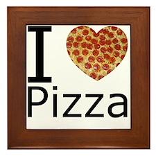 I Heart Pizza Framed Tile