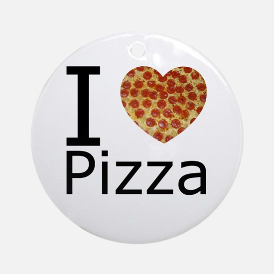 I Heart Pizza Ornament (Round)