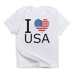 I Heart USA w/Flag Infant T-Shirt