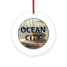 I <3 Ocean City Ornament (Round)