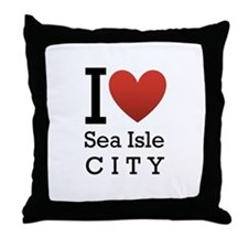 Sea Isle City Throw Pillow