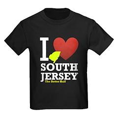 I Love South Jersey Kids Dark T-Shirt