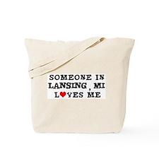 Someone in Lansing Tote Bag