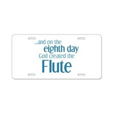 Flute Creation Aluminum License Plate