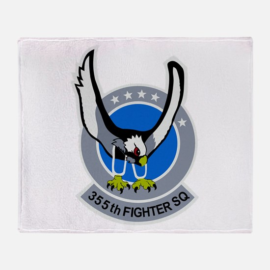355th Fighter Squadron Throw Blanket