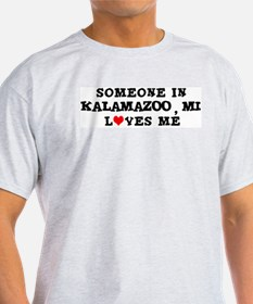 Someone in Kalamazoo Ash Grey T-Shirt