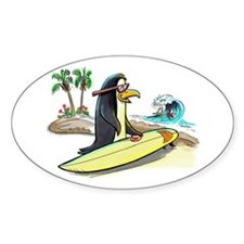 PeNgUiN SuFeRs Oval Decal