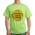 Psycho 'nana Chick Green T-Shirt