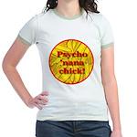 Psycho 'nana Chick Jr. Ringer T-Shirt
