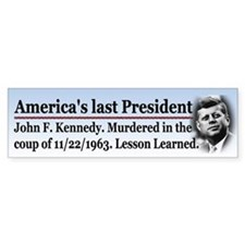 J.F.K. Bumper Sticker