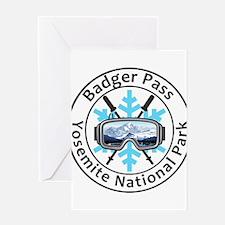 Badger Pass - Yosemite National P Greeting Cards