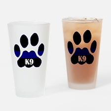 K9 Thin Blue Drinking Glass