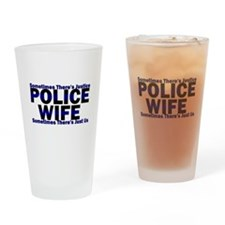 PoliceWives Justice Drinking Glass