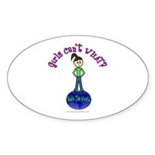 Light Rule The World Oval Decal