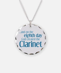 Clarinet Creation Necklace Circle Charm