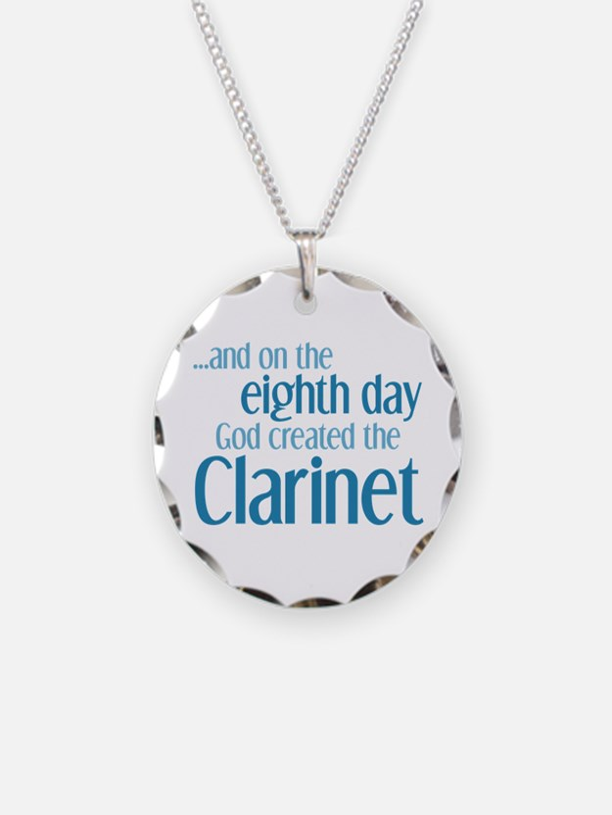 Clarinet Creation Necklace Circle Charm