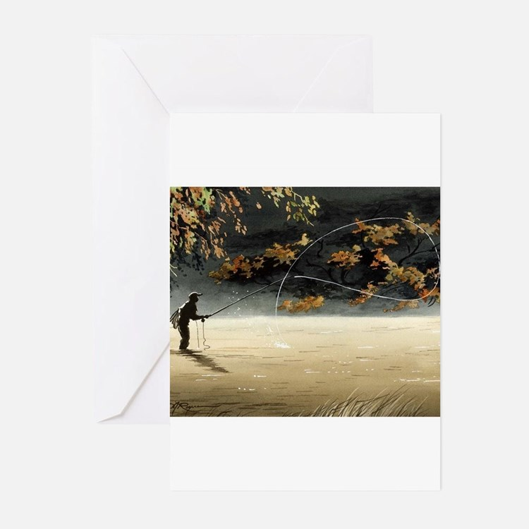 Cute Fly fishing Greeting Cards (Pk of 10)