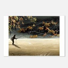 Cute Fly fishing Postcards (Package of 8)