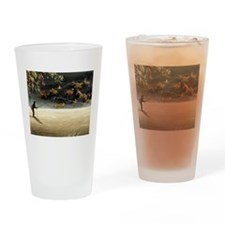 Cute Fly fishing Drinking Glass