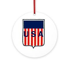 USA SHIELD Ornament (Round)