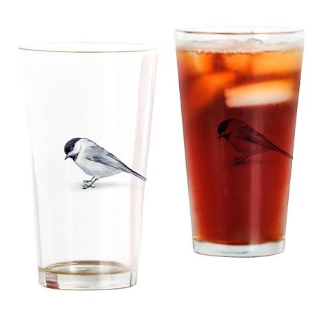 chickadee Drinking Glass
