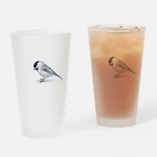chickadee Drinking Glass