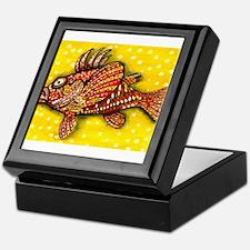 Funny Fish art Keepsake Box