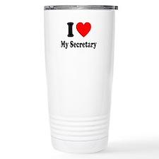 I Love My Secretary: Travel Mug