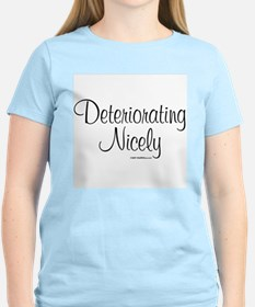 Women's Deteriorating Nicely Pink T-Shirt