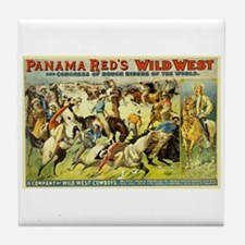 Panama Red's Wild West Cowboys Tile Coaster
