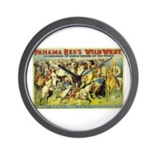 Panama Red's Wild West Cowboys Wall Clock