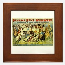 Panama Red's Wild West Cowboys Framed Tile