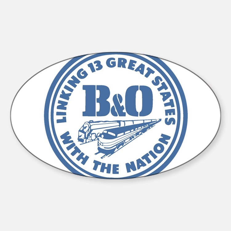 Baltimore and Ohio 13 states railway desig Decal
