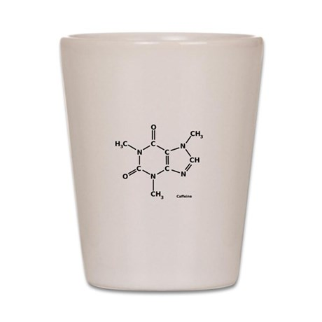 2D Caffeine Molecule Shot Glass