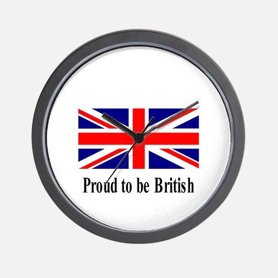 Proud to be British Wall Clock