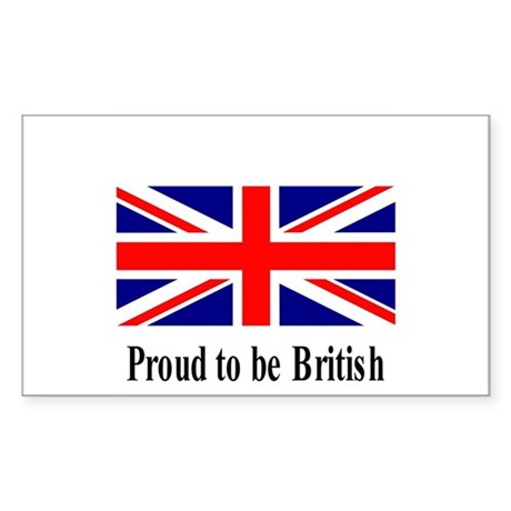 Proud to be British Rectangle Sticker