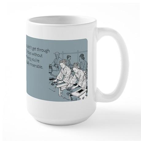 Equally Miserable Mondays Large Mug