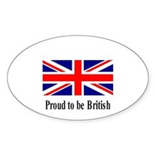 Proud to be British Oval Decal