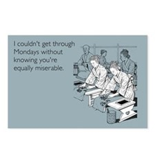 Equally Miserable Mondays Postcards (Package of 8)