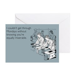 Equally Miserable Mondays Greeting Cards (Pk of 20